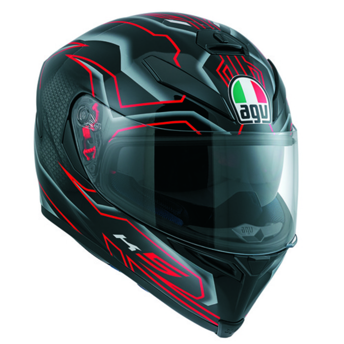 [AGV] K-5 SV DEEP BLACK / WHITE / RED